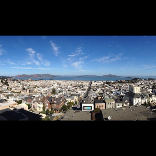 perfect day for fleet week in San Francisco! (Taken with Instagram at Fillmore Stairs)