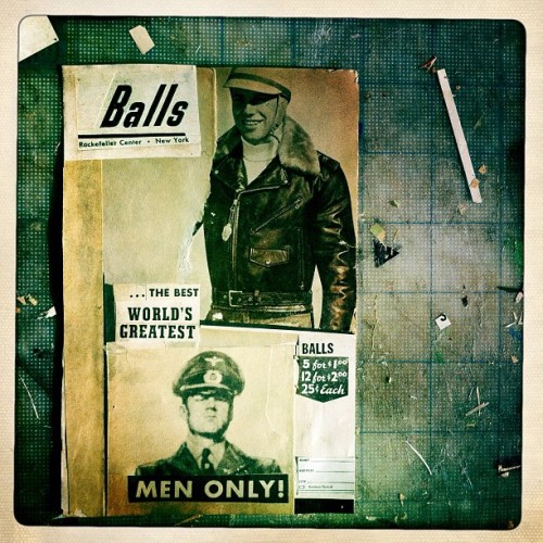 BALLS. #collage #men #vintagepaper  (Taken with Instagram)