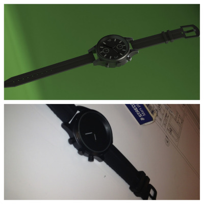 Made me a 3d model of my watch on the computer