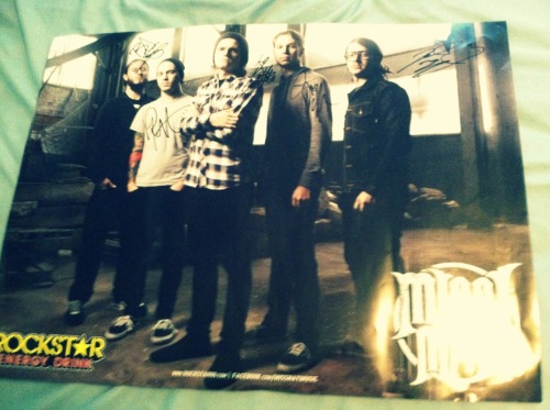 Signed Miss May I poster from No Guts No Glory tour! 10$ Message me if interested.