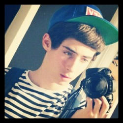 #me #obey #camera #backpack #stripes