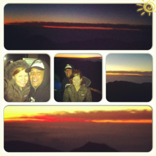 Woke up at 3am to go and watch the sunrise on top Haleakala :)