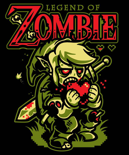 gamefreaksnz:  The Legend of Zombie by WinterArtwork What does Link enjoy more than an ice cold glass of milk and some delicious cookies? Hearts and brains of course, as he seems to have fallen ill with a zombie infection! Pre-order USD$15.00* *price will be jumping up to $19.95 once the pre-order period has ended.  Nicenicenice!!