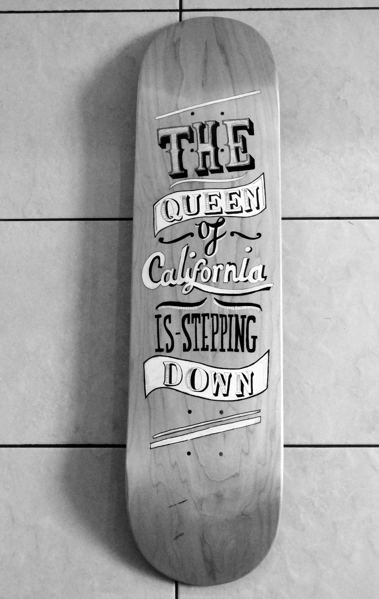 Illustrated skate deck
