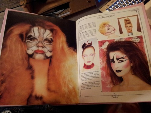 my mum has this amazing 80s make up book (published in 1983). I've loved looking through it ever since I was a kid.   see this amazing look?