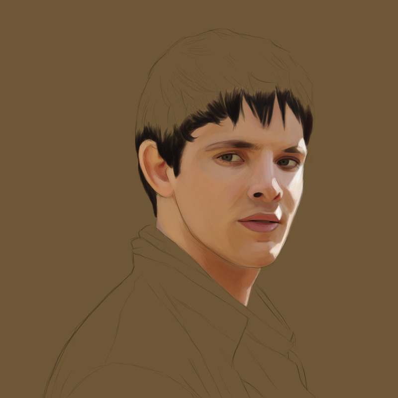 Colin Morgan as Merlin work in progress.