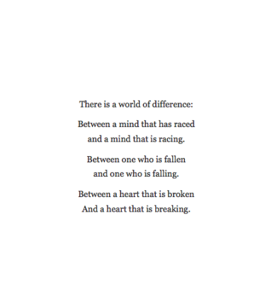 stellar-muse:  The difference is, one is a constant reminder that it isn't over