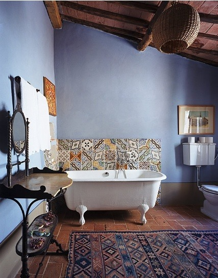 bohemianhomes:  Bohemian Homes: Lilac Bathroom