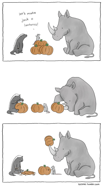 lizclimo:  those are some good lookin jack o lanterns.