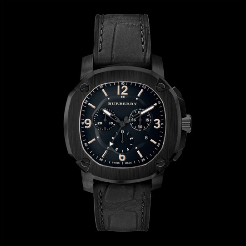 Watch of the Week: The Britain Chronograph by Burberry Burberry's Christopher Bailey is an ace at taking pieces steeped in tradition and reinventing them into modern must-haves for guys everywhere and he's done it again with the launch of the brand's newest Swiss-made timepiece, The Britain. This chronograph style, in particular, stands out for being a nice nod to the house's military heritage while being incredibly versatile. The black-plated stainless steel case with a brushed finish gives a rugged edge to the luxe piece, anchored by a sleek matte alligator strap. Every detail has been considered too, from the hand-screwed custom designed bolts on the case to the trench coat colored illuminating hands. It's a handsome timepiece that will certainly stand the test of time, something a brand like Burberry knows a thing or two about.  $1,895, available at burberry.com Read More http://www.gq.com/style/blogs/the-gq-eye/2012/10/watch-of-the-week-1.html#ixzz28YuhVyfT