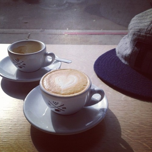 mattyhis:  @handsomeroaster and @teranishibrand on a Saturday afternoon. (Taken with Instagram at Handsome Coffee Roasters)