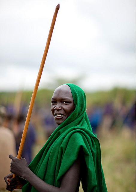 RURAL STREET STYLE # 10 ETHIOPIA   Suri Warrior in the Omo Valley. Photo Eric Lafforgue.  Image courtesy of the artist via flickr. All rights reserved.