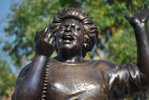 "fuckyeahmarxismleninism:  Fannie Lou Hamer—freedom fighter, civil rights activist, vice chair of the Mississippi Freedom Democratic Party, voting rights activist—would have been 95 years old on October 6, 2012. Hamer often said: ""Nobody's free until everybody's free."" This statue was dedicated in her honor on October 5, 2012, in Ruleville, Mississippi."