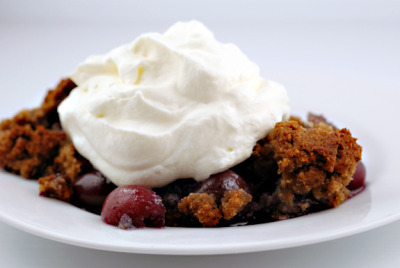 cherry blueberry crumble by elana's pantry on Flickr.