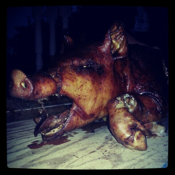 Pig Face! <warning for vegans and the feint at heart> (Taken with Instagram)