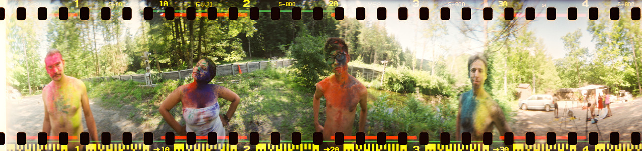 360 Spinner during Adrienne's Holi Powder shoot at Phoot Camp.  Ashokan - June 2012  ©Lauren Randolph
