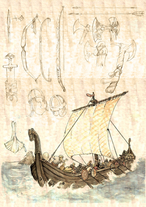 crazybruce:  viking ship by ~MauReen90