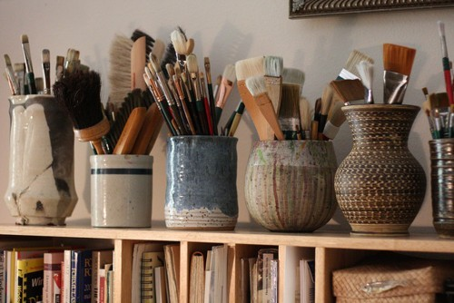 bohemianhomes:  Bohemian Homes: Paint brush pots