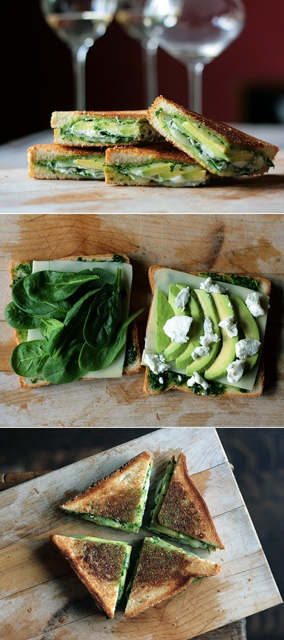 Green Goddess Grilled Cheese Sandwich (by ExPress-O)