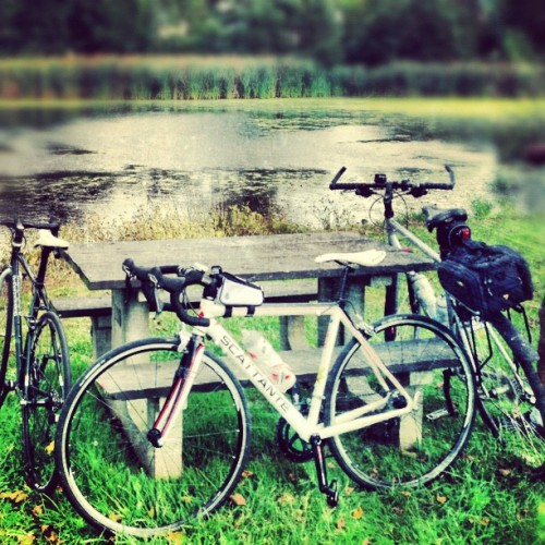 #bikes #water #picnic #powwow #table  (Taken with Instagram)