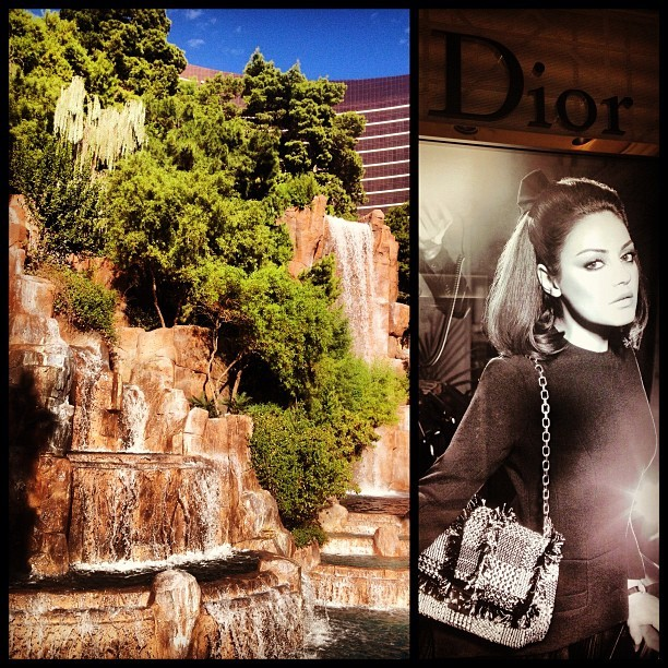 The Wynn has three things I love: waterfalls, Mila and Dior #vegas  (Taken with Instagram at Wynn Las Vegas)