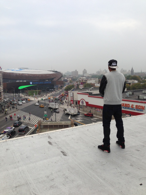 "aintnojigga:  ""No Ceilings. On the roof at 560 State St. Words can't describe."" Yesterday Jay-Z posted a picture to Life + Times of him standing atop the building at 560 State St as he looked over his arena and city. During the early-'90s,Hov used to hide his drug stash in his apartment in Brooklyn, located at 560 State St. It's crazy to see how far he has come. ""I used to cop in Harlem, all of my Dominicans right there up on Broadway, pull me back to that McDonald's, took it to my stash spot, 560 State Street"""