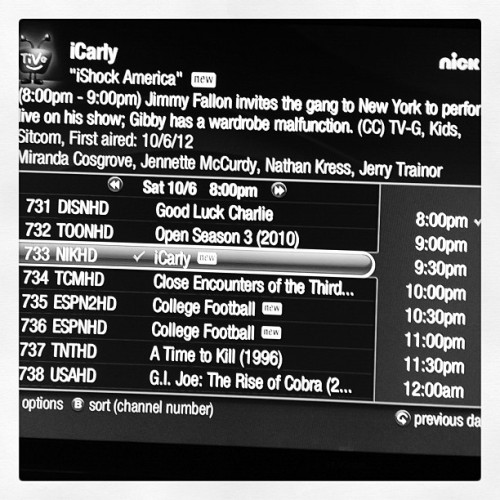 ICarly now!! Nickelodeon. #LateNight meets #iCarly (Taken with Instagram)