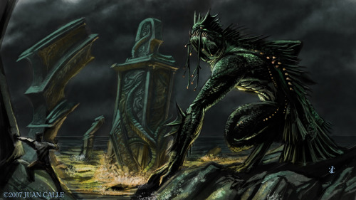 awesomedigitalart:  Dagon by ~Onikaizer