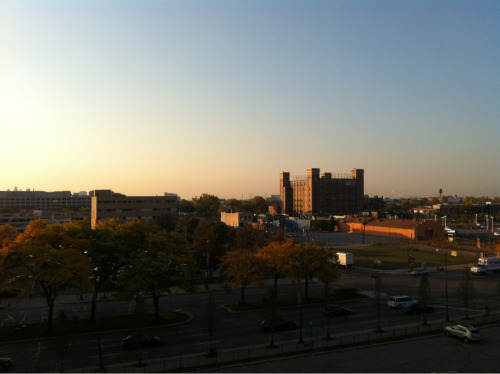 Detroit in the morning.