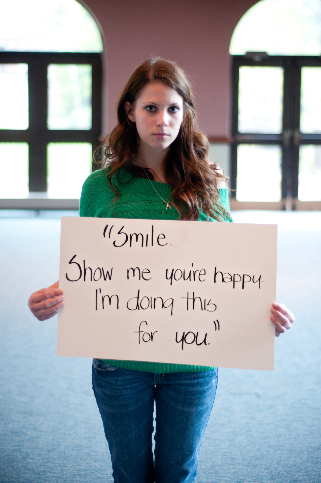 """lovebeinghuman:  This is a pic taken from projectunbreakable.tumblr.com. Project Unbreakable was created in October of 2011 by Grace Brown. Grace works with survivors of sexual assault, photographing them holding a poster with a quote from their attacker. Grace has photographed over two hundred people and has received over a thousand submissions. TIME magazine has also named it one of the top 30 Tumblr blogs to follow. If you are interested in participating by submitting in your own image, you may send an email to projectunbreakablesubmissions @gmail.com, and the pictures will appear at olapic.com/photos/projectunbreakable. If you are interested in being photographed, you may send her an email at projectunbreakable @gmail.com with the subject line """"Photograph Me.""""  powerful"""