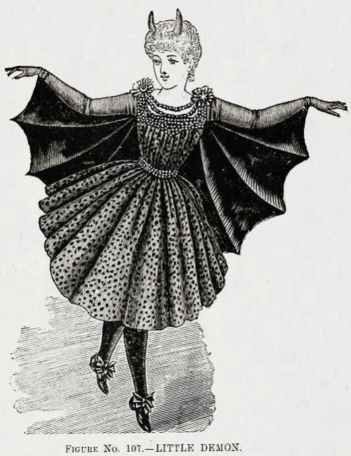 "vintagegal:  Victorian Fashion Print ""Little Demon"""