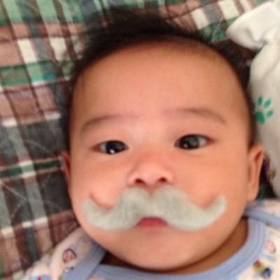 thatdopekidreiner:  Baby EJ bout to fuck shit up!!!!!! #baby #mustache #cute (Taken with Instagram)