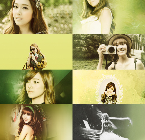 color+picspam: jessica + green (requested by: jumons)