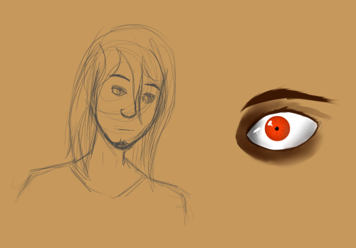 I dont know how i went from drawing Jean to drawing his eye :y