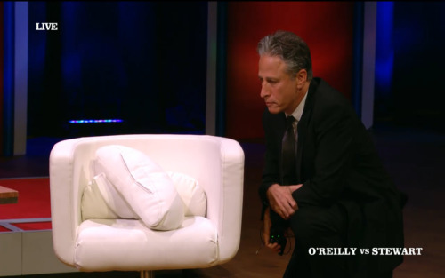 "shortformblog:  Bill O'Reilly on who he'd elect for president, if he could pick anyone: ""Clint Eastwood would have to be my guy."" Jon Stewart: ""Well, why don't we go ask him?"" *gets out of chair and starts talking to it*"