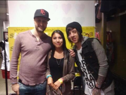 Me and David and kyle back in march at the blush meet and greet at brea mall CA