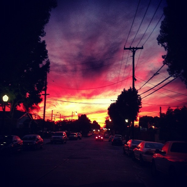 @brianaholla #sunset #colorful #pretty #beautiful #chapman #landscape #awesome (Taken with Instagram)