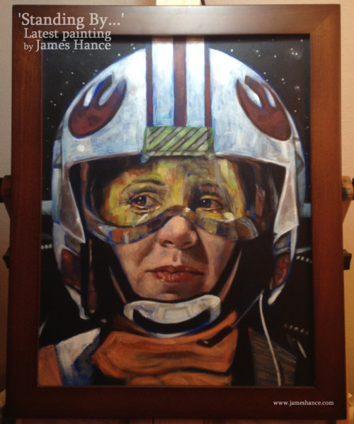 Latest Original For Sale: 'Standing By…' (Princess Leia / Star Wars) Here's the original on the eBays A strictly (I mean, really, really strictly) limited run of 50 signed and numbered prints will be available on my website from Monday - I'll post again when the time comes :) Thanks for your amazing support, as always! x My site / My Facebook