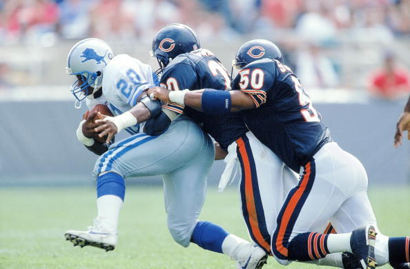 #Lions RB Barry Sanders in BEAST MODE. (photo)