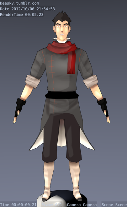 Another view of my lowpoly model of Mako. Soon he will be animated
