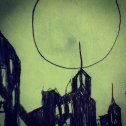 Gotham in 2 minutes. #bored #gotham #drawing  (Taken with Instagram)