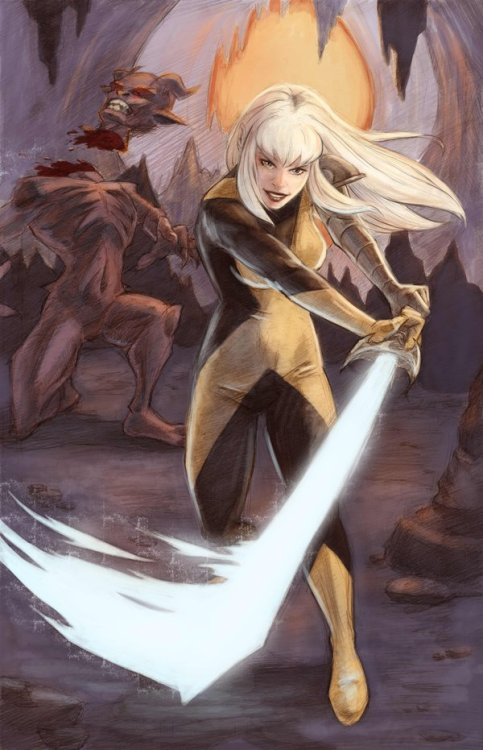 combonight:   Magik by lilwassu  Can we put her in a fighting game now, please?