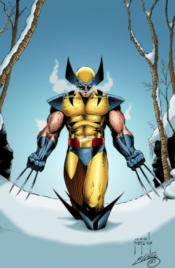 comicsforever:  Wolverine // artwork by Jason Metcalf and Adrian Castillo (2002)