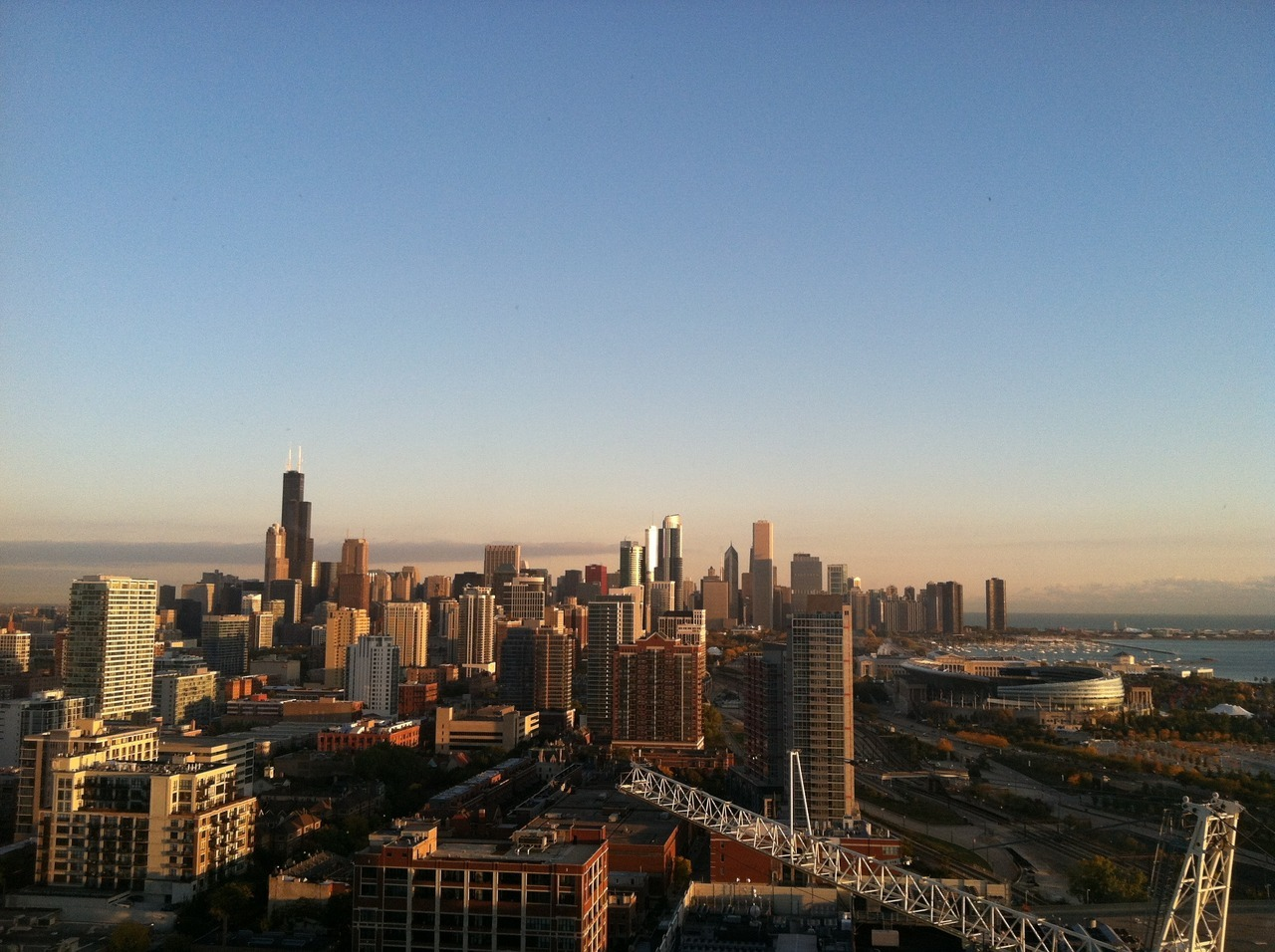 Waking up to this :) I missed you Chicago…. (39th floor of the Hyatt Regency)