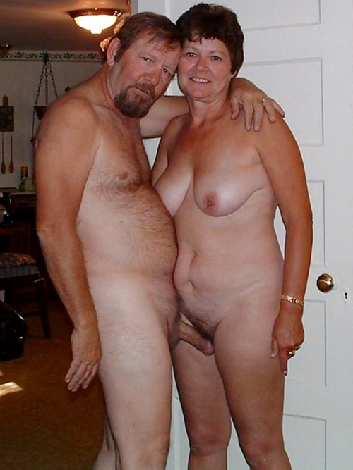 Naked couple with erection