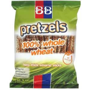 BB Pretzels. I love these things.  I adore them.  I want to marry these pretzels and have babies with them.  They are the bestest pretzels in the whole most widest world. Well they are. Don't ask me where you can buy them though.  As far as I know, you're either shopping in New Jersey (select locations there of) or your out of luck. Damn.