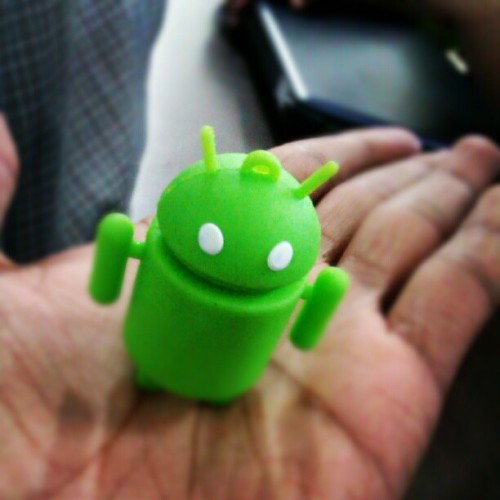 Look at what I found in class! #droid #mini #cute #android  (Taken with Instagram)