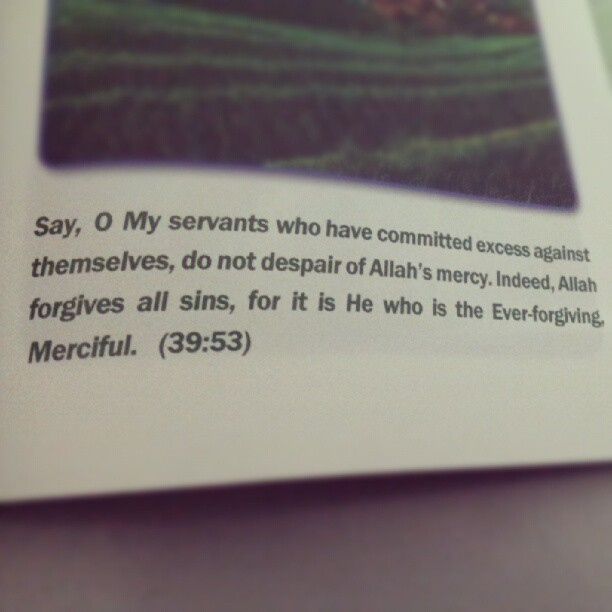 When a soul repents and returns to Allah, He turns back to His servant in acceptance and forgiveness. SUBHANALLAH! (Taken with Instagram)