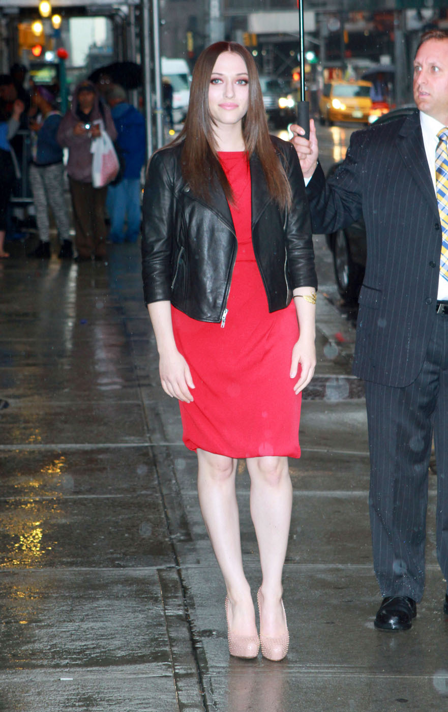 Kat Dennings at The Late Show in NYC, October 2nd