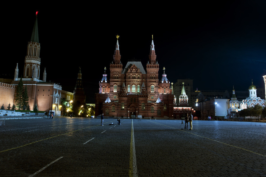 Moscow Red Square by Italian Photo PK500px.com  Moscow Red Square at night